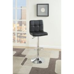 Macy Stool Chair Grey Office Pillow Benzara Armless Style Bar With Gas Lift Set Of 2 Main Image