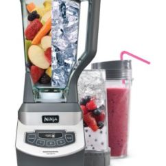Ninja Kitchen Gray Tile Bl660 Professional Blender With Single Serve Cups Small Appliances Macy S