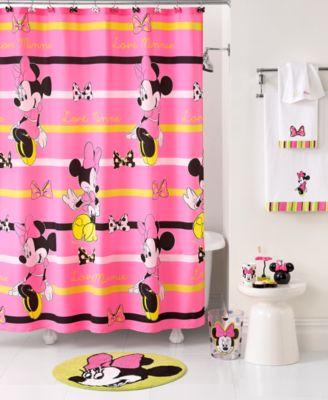 Disney Bath, Neon Minnie Collection  Bathroom Accessories