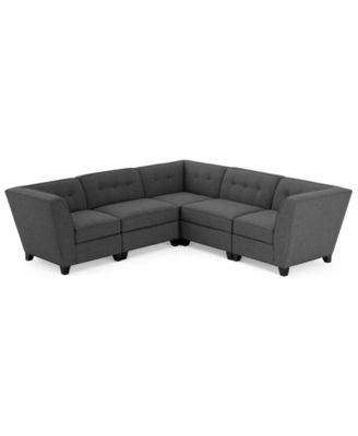 Harper Fabric 5piece Modular Sectional Sofa Furniture