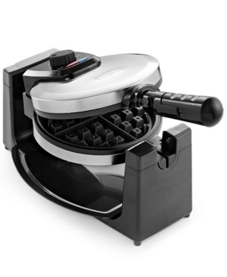 bella kitchen chevron rug 13991 polished stainless steel rotary waffle maker small main image