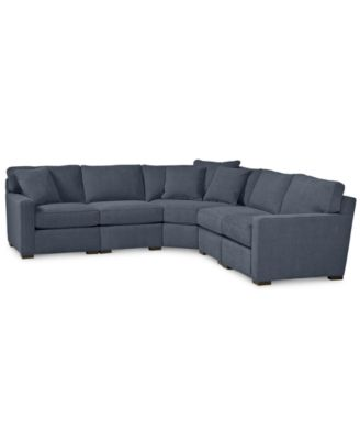 macy s sectional sofa baja convert a couch sleeper bed reviews furniture radley 5 piece fabric custom colors created for