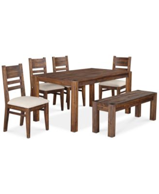 kitchen table with bench and chairs drawer organizer furniture avondale 6 pc dining room set created for macy s 60