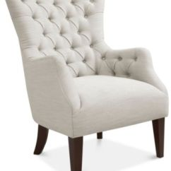 Bedroom Chair With Skirt Lawn Canopy And Footrest Chairs Macy S Adelyn Button Tufted Wing Back Quick Ship