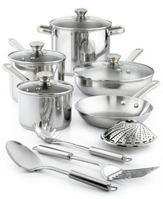 macy's kitchen sets wall hanging ideas tools of the trade stainless steel 13 pc cookware set created for main image