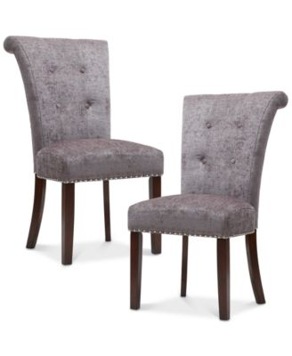 dining room chair fabric antique barber chairs for sale kitchen macy s daniel set of 2 quick ship