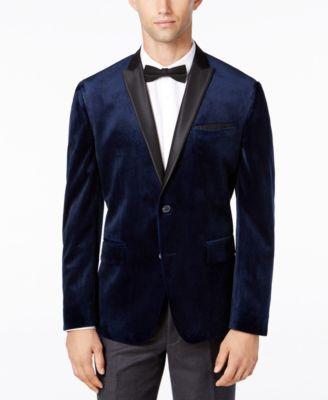 Main image also inc international concepts    men   slim fit velvet blazer rh macys