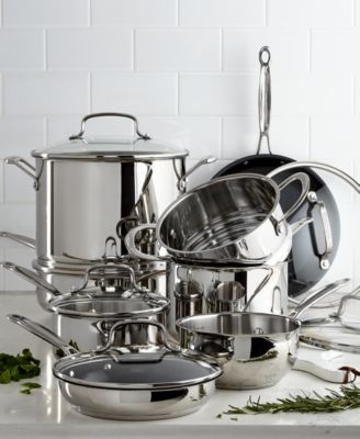 macy's kitchen sets upgrade cost cuisinart chef s classic 14 pc stainless steel cookware set 299 99