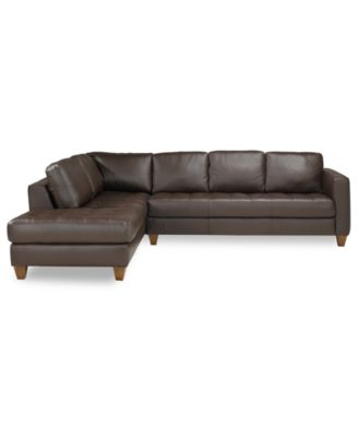 martino leather chaise sectional sofa 2 piece apartment and hotel istanbul spa living room furniture collection ...