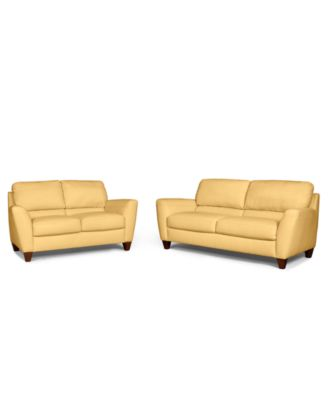 almafi 2 piece leather sofa set and love seat 5 in 1 bed bangalore delena sofa, only at macy's - furniture