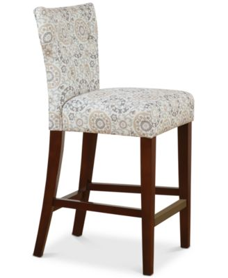 macy stool chair grey chairs with lifts for the elderly carriage co baylor tufted back counter quick ship main image