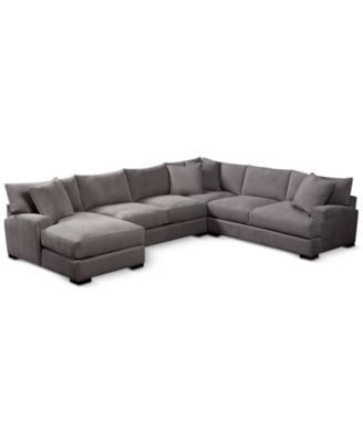 large plush sectional sofa how to repair cushions sofas macy s rhyder 112 4 pc fabric with chaise created for