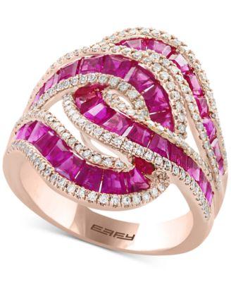 EFFY Amor Certified Ruby 3 12 Ct Tw Amp Diamond 12
