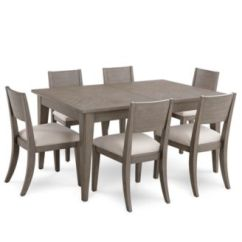 Macy's Kitchen Sets Drop Leaf Tables Furniture Tribeca Grey Expandable Dining 7 Pc Set Main Image