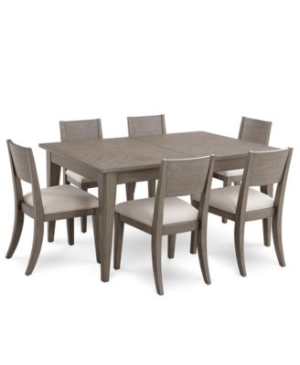 high top table with 6 chairs bertoia diamond chair kitchen dining room sets macy s tribeca grey expandable furniture 7 pc set