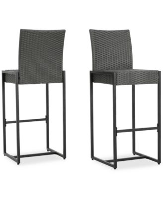 macy stool chair grey red and a half noble house camden bar set of 2 quick ship furniture s main image