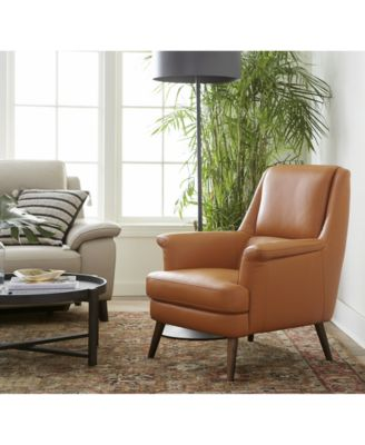 leather accent chairs swivel chair designer furniture milany created for macy s