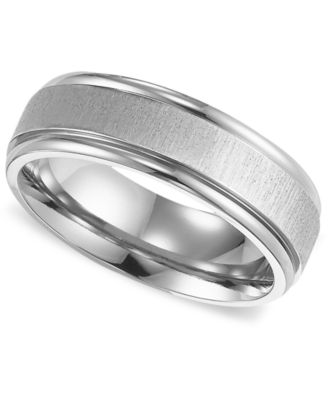 Triton Mens Titanium Ring Comfort Fit Wedding Band