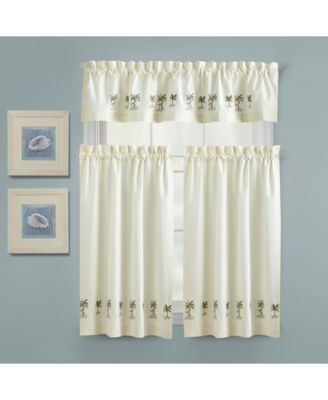kitchen window valances handles for drawers shop and buy croscill palm tree 24 x 30 tailored