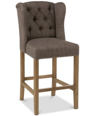kitchen stools with backs cabinet stand alone macy s lance tufted wing counter stool quick ship