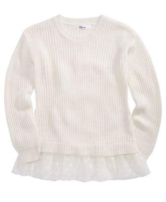 Epic threads big girls mesh trim sweater created for macy   also kids clothing rh macys