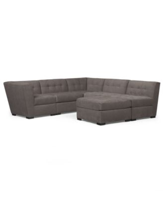 6 piece modular sectional sofa sofas on credit no deposit furniture closeout roxanne fabric with ottoman created for macy s