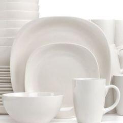 Macys Kitchen Aid Tile Floor Thomson Pottery Quadro 32-piece Set, Service For 8 ...