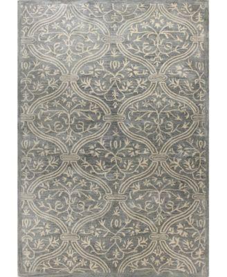 Macys Fine Rug Gallery Bordeaux Floral Vase Slate Area