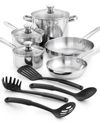 Tools of the Trade Stainless Steel 12-Pc. Cookware Set, Only at Macy's