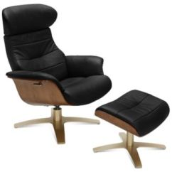 Reclining Chair With Ottoman Leather Nichols And Stone Value Furniture Annaldo Swivel 2 Pc Set