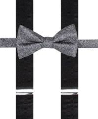 Alfani Black Bow Tie and Suspender Set, Created for Macy's ...