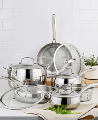 macy's kitchen sets clean cabinets belgique stainless steel 11 pc cookware set created for macy s main image