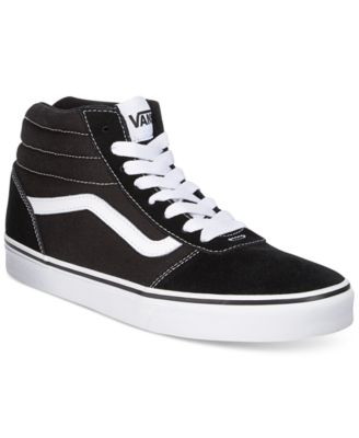 Vans Mens Ward Suede HiTop Sneakers  All Mens Shoes