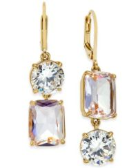 kate spade new york Gold-Tone Crystal Mismatch Earrings ...