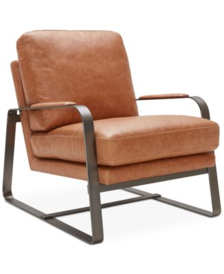 leather accent chairs star trek captain s chair furniture jollene macy