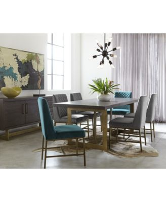 gray side chair splat tapered back windsor furniture cambridge dining 7 pc set table teal grey