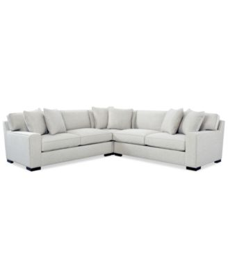 macy s sectional sofa chesterfield and chair set furniture bangor 3 pc created for