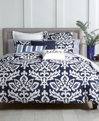 Charter Club Damask Designs Navy Duvet Cover Sets Created