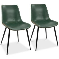 Faux Leather Dining Chairs Best Dorm Room Lumisource Durango Chair Set Of 2 Quick Ship