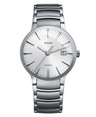 Rado Watch Mens Swiss Automatic Centrix Stainless Steel
