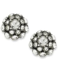 kate spade new york Earrings, Antique Silver-Tone Crystal ...