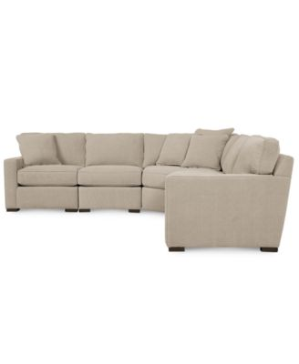 macy s sectional sofa leather sofas austin furniture radley fabric 5 piece created for