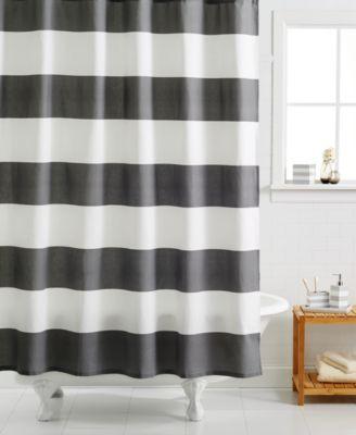 Kassatex Hampton Striped Shower Curtain Shower Curtains Bed