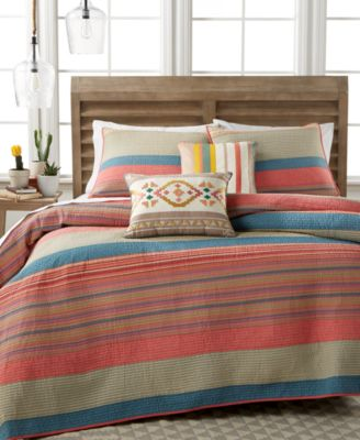 CLOSEOUT Martha Stewart Collection 100 Cotton Western Horizon FullQueen Quilt Created for