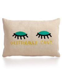 Whimsical Shop Glitterally Can't Pillow, Only at Macy's