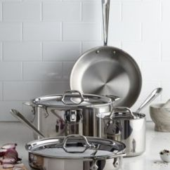 Macy's Kitchen Sets Americana Island All Clad Stainless Steel 7 Pc Cookware Set Created For Macy S Main Image