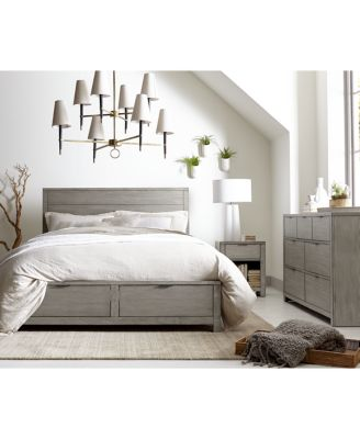 Tribeca Grey Storage Platform Bedroom Furniture Collection