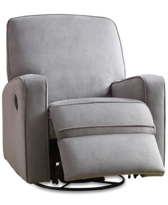 accent chair recliner wedding table and rentals chairs recliners macy s kennor swivel glider quick ship