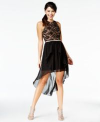 City Studios Juniors' Lace High-Low Dress, A Macys ...