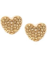 Michael Kors Pav Heart Stud Earrings - Jewelry & Watches ...
